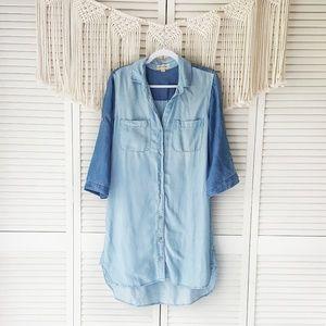 ANTHRO CLOTH & STONE Colorblock Button Dress M